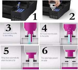 Gocolor EPSON 001 & 003 PREMIUM QUALITY COMPATIBLE REFILL DYE INK FOR EPSON  L4150 L4160 L6160 L6170 L6190 INK TANK PRINTER BLACK 127ML Single Color