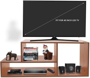 Klaxon Engineered Wood TV Entertainment Unit Finish Color   Matte Cherry