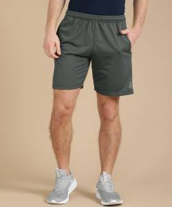 REEBOK Solid Men Grey Sports Shorts