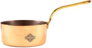 IndianArtVilla Copper Plain Pot Pan with Inside Tin Lining 4.4'' Inch Width Sauce Pan 11 cm diameter