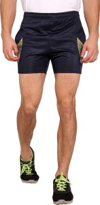 Niz Sports Solid Men Black Sports Shorts