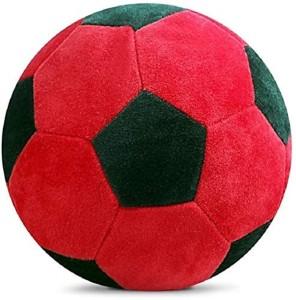 SANA TOYS Stuffed Soft Toy Plush Ball Kids Birthday Gift (Red /Black)  - 10 cm