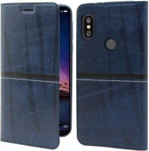 4ed261719e7 Jkobi Flip Cover for Mi Redmi Note 6 Pro Blue Dual Protection ...
