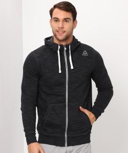 REEBOK Full Sleeve Self Design Men's Sweatshirt