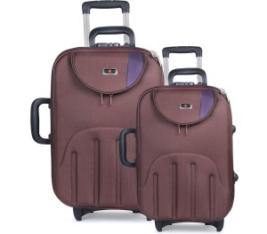 STALIN Luggage Combo Set (Pack of 2) Brown Trolley Bag (Big Luggage)24 Inches 50 Liter (Small Luggage) 20 Inches And 40 Liter Capacity Cabin Luggage - 20 inch
