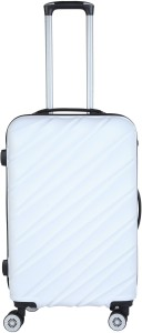 3G 8023 Combat Series ABS 20inch / 55cms Hard Sideded Luggage Trolley Suitcase (White) Cabin Luggage - 20Inch Cabin Luggage - 20 inch