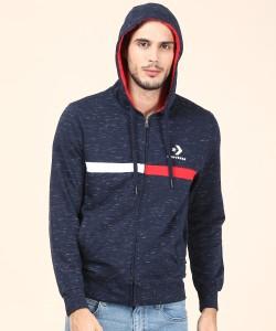 Converse Full Sleeve Self Design Men's Sweatshirt