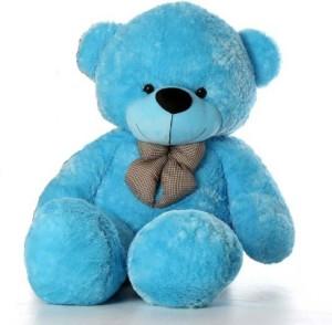 GIFTERIA Stuffed Spongy Soft Cute 3 feet Sky Blue Teddy bear  - 89 cm