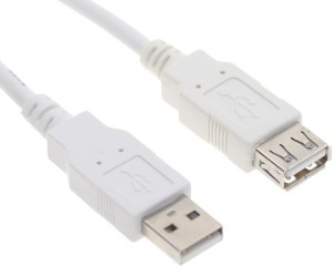 capnicks USB 3.0 Super Speed Extension Cable (White) Micro USB Cable