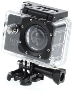Lizzie Sports Action Shot Full HD 12MP 1080P Black Helmet Sports Action Waterproof Sports and Action Camera