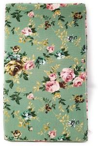 Di Grazia Di Grazia Green Flower Design High Density Canvas Rectangular Sponge Polyester Cloth Cover Home Indoor Outdoor Bench Swing Sofa Cushion Gadi Mat Loveseat (30 * 50 cm- Small) Single Sofa Sectional Bed
