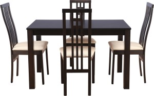 HomeTown Solid Wood 4 Seater Dining Set