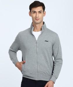 Fila Full Sleeve Self Design Men Sweatshirt