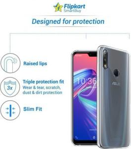 the best attitude bd8bb bc323 Flipkart SmartBuy Back Cover for Asus Zenfone Max Pro M2Transparent,  Flexible Case