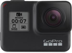 GoPro Hero7 (with 3 Way Mount + Splash Bag) Sports and Action Camera