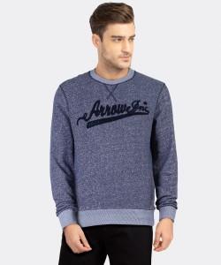 ARROW BLUE JEANS CO. Full Sleeve Self Design Men Sweatshirt