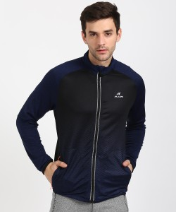 Alcis Full Sleeve Printed, Self Design Men Jacket
