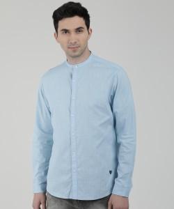 John Players Men's Solid Casual Light Blue Shirt