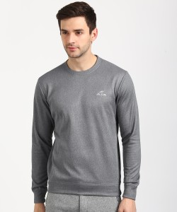 Alcis Full Sleeve Solid Men Sweatshirt