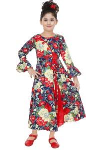 Indokids Girls Maxi/Full Length Festive/Wedding Dress