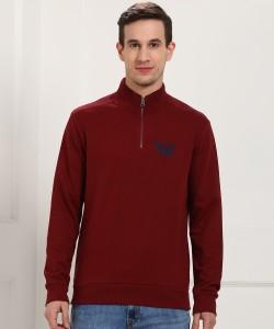 ARROW BLUE JEANS CO. Full Sleeve Solid Men Sweatshirt