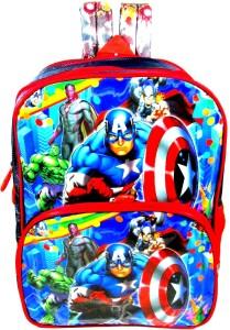 Ehuntz Captain America/Avengers/Hulk/iron man school Bag (Pre Nursery & Nursery) (EH1388) Waterproof School Bag