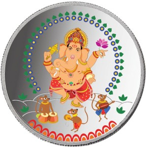 Taraash Taraash 999 Silver Premium Collection OF Lord Ganesha 10 gm Coin CF6R2-10W S 999 10 g Silver Coin