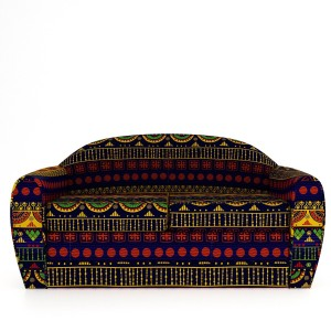 Style Crome Printed Two Seater Sofa Cum Bed Perfect for Guests Single Solid Wood Sofa Bed