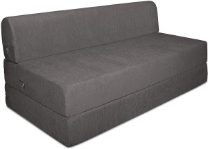 Style Crome Sofa Cum Bed 5x6 Feet Three Seater Grey Color Single Sofa Bed