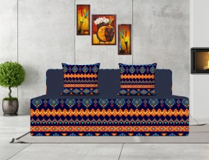 Style Crome Printed Sofa Cums Bed 5x6 Feet Three Seater With Two Cushion- Perfect for Guests Single Sofa Bed
