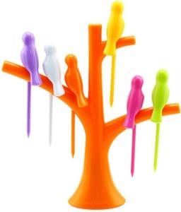 LS Letsshop Plastic Fruit Fork Plastic Fruit Fork