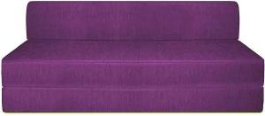 Style Crome Sofa Cum Bed 5x6 Feet Three Seater Purple Color Single Sofa Bed