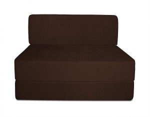 Style Crome Sofa Cum Bed 3x6 Feet One Seater Brown Color Single Sofa Bed