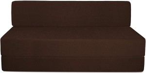 Style Crome Sofa Cum Bed 5x6 Feet Three Seater Brown Color Single Sofa Bed