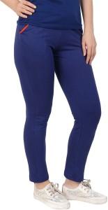 Diaz Solid Women Blue Track Pants