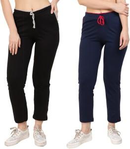 Diaz Solid Women Multicolor Track Pants