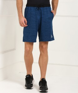 REEBOK Self Design Men's Black, Blue Sports Shorts
