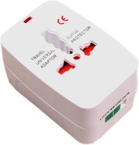 Mezire Universal Pocket Travel Charger Multi-Plug, AU/EU/UK/US/CN Worldwide Adaptor (White) Worldwide Adaptor
