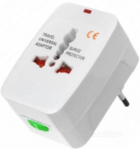 Mezire All In 1 International Multifunctional Travel Adaptor Worldwide Adaptor(White) Worldwide Adaptor
