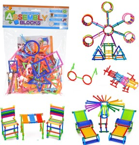 Wishkey Colorful Plastic Assembly Building Blocks Innovative Educational Smart Stick Game Learning Toy Set for Kids