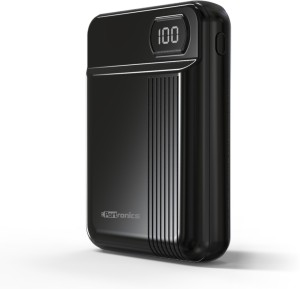 Portronics 10000 mAh Power Bank (POR-235, INDO 10D 10,000 mAh  with Display (Black))