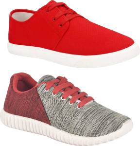 Aircum Combo Pack Of 2 Casual Shoes Sneakers For Men
