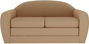 Style Crome Two Seater Fold Out Sofa Cum Bed Sleeps & Comfortably Golden Color Single Sofa Bed