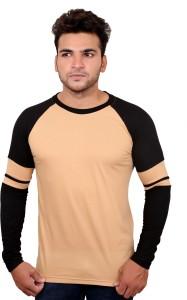 Helmont Solid Men's Round Neck Beige T-Shirt