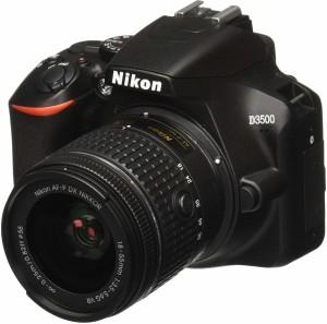 Nikon DSLR D3500 DSLR Camera Body with Single Lens: AF-P DX NIKKOR 18-55 mm f/3.5-5.6G VR Kit with free Camera bag DSLR Camera AF-P DX NIKKOR 18-55mm f/3.5-5.6G VR
