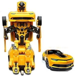 P17 collection Robot to Car Converting Transformer Toy For Kid Yellow