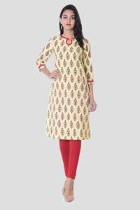 Metro Fashion Women's Printed Straight Kurta