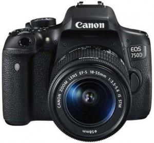 Canon EOS 750 D DSLR Camera Body with Single Lens: 18-55mm (16 GB SD Card + Camera Bag)
