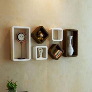 CraftOnline Wooden Wall cube shelf Wooden Wall Shelf