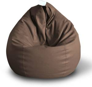 Style Homez XXL Classic XXL Size Brown Color with Beans Teardrop Bean Bag  With Bean Filling